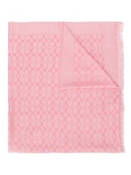 Coach Printed Scarf Pink