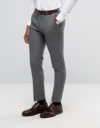 Selected Homme Slim Suit Trousers In Salt N Pepper Grey