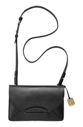 Skagen 'Nilsson' Convertible Leather Crossbody Clutch Black