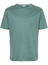 Gieves And Hawkes Partridge Print T Shirt Green