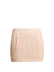 Alexandre Vauthier Tweed Mini Skirt Light Pink