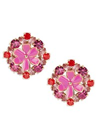 Kate Spade Here Comes The Sun Stone Accented Floral Earrings Pink