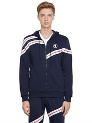 Bikkembergs Wave Inserts Zip Up Cotton Sweatshirt