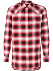 Marc Jacobs Ombre Checked Shirt Cotton Red