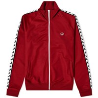 Fred Perry Authentic Taped Track Jacket Red