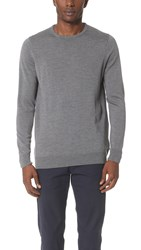 Sunspel Crew Neck Sweater Mid Grey Melange