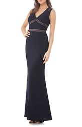 Js Collections Women's Stretch Body Con Gown