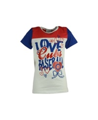5Th And Ocean Girls' Chicago Cubs Love Baseball T Shirt