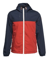 Element Men's Alder Cotton Blend Shower Proof Zip Up Jacket Red
