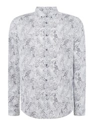 Linea Farley Feather Printed Shirt Slate