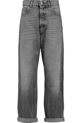Golden Goose Kim High Rise Straight Leg Jeans Gray