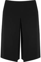 Philosophy Pleated Crepe Wide Leg Culottes Black