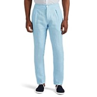 Marco Pescarolo Chiaia Washed Linen Drawstring Trousers Lt. Blue