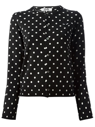 Comme Des Garcons Play Polka Dot 'Play' Cardigan Black
