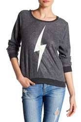 Chaser Graphic Fleece Sweater Black