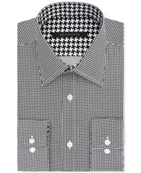 Sean John Men's Big And Tall Classic Fit Black Houndstooth Dress Shirt