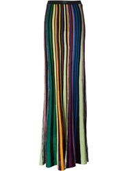Missoni Striped Knit Maxi Skirt Black