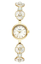Kate Spade 'S Metro Bracelet Watch 21Mm Gold Mop Gold