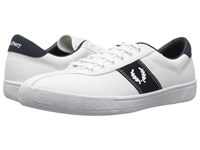 Fred Perry Tennis Shoe 1 Canvas Snow White Snow White Navy Men's Shoes