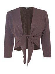 Tigi Three Quarter Sleeve Shrug Brown