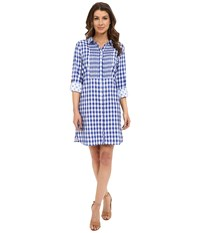 Hatley Cotton Shirtdress Sea Blue Gingham Women's Dress