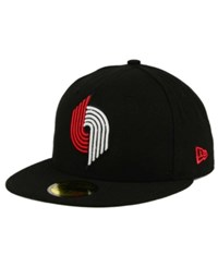 New Era Portland Trail Blazers 2 Tone Basic 59Fifty Cap Black
