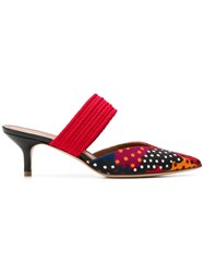 Malone Souliers Maisie Polka Dot Mules Red