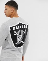 Only And Sons Nfl Raiders Sweatshirt Grey