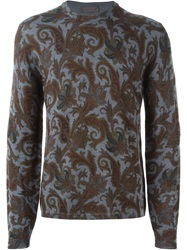 Etro Paisley Sweater Grey