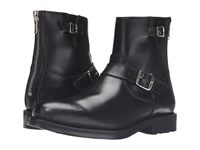 Frye Brayden Engineer Black Smooth Pull Up Men's Boots