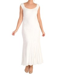 Chesca Embroidered Beaded Bridal Dress Ivory