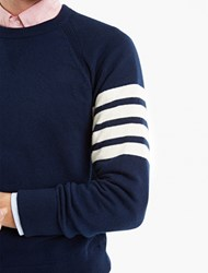 Thom Browne Navy Cashmere Sweater