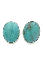 Exex Design Jewelry Sterling Silver Egypt Turquoise Stud Earrings Blue