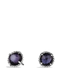 David Yurman Chatelaine Earrings With Black Orchid