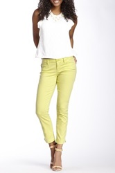 Level 99 Lilly Cropped Skinny Straight Leg Jean Green