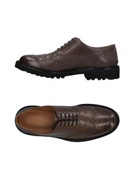 Emporio Armani Lace Up Shoes Dark Brown