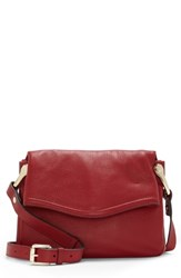 Vince Camuto Clem Leather Crossbody Bag Red Pepper Berry