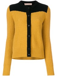Marni Bi Colour Slouch Cardigan Women Polyamide Alpaca Virgin Wool 40 Yellow Orange