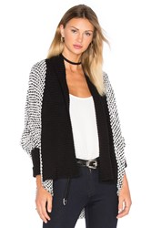 Lamade Joshua Cardigan Black And White