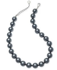 Charter Club Silver Tone Gray Imitation Pearl Necklace Only At Macy's