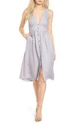Astr Women's Leah Fit And Flare Dress Lilac Grey