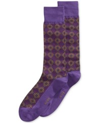 Alfani Men's Printed Socks Only At Macy's Passion Purple