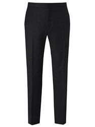 Richard James Mayfair Hopsack Wool Dress Suit Trousers Black
