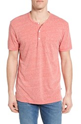 Bonobos Men's La Henley Heather Red