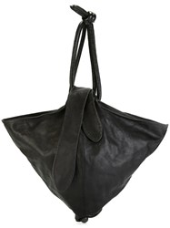 Romeo Gigli Vintage Tie Fastening Shoulder Bag Black