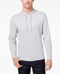 Club Room Men's Jersey Hooded Shirt Created For Macy's Shade Slate