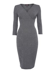 Simon Jeffrey Bodycon Dress Grey
