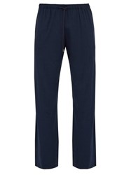 Derek Rose Stretch Jersey Pyjama Trousers Navy