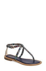 Isola Women's Mackenzie T Strap Sandal Tribal Print Leather