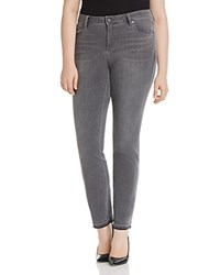 Vince Camuto Plus Released Hem Ankle Jeans In Cobblestone